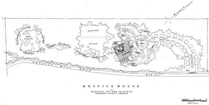 Proposed Hospice House: Site plan