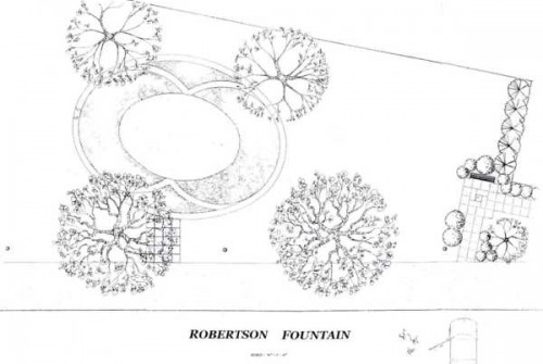Robertson Fountain sketch