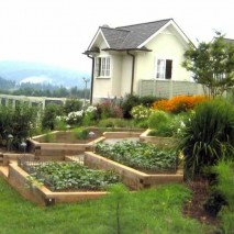 Terraced vegetable and cutting garden