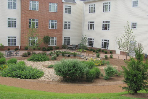 Dogwood Village: Healing garden, another view