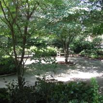 Contemplative cloister garden, St. Stephen's Church, Richmond