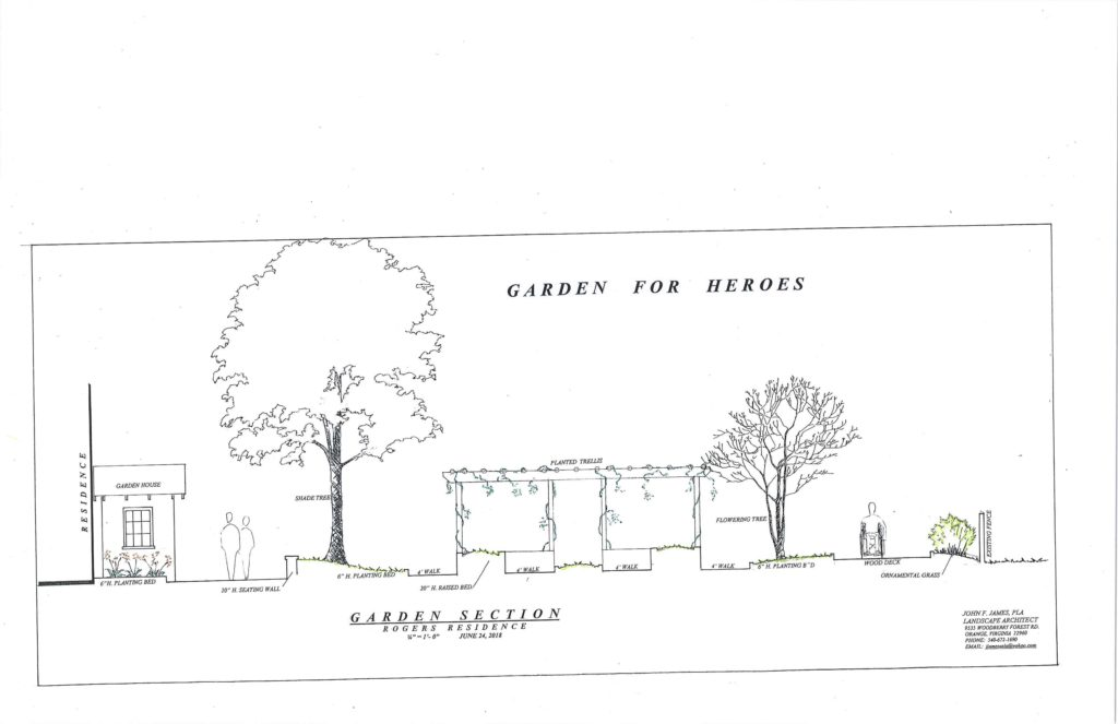 site elevation Rogers Residence Heroes Garden